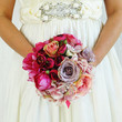 Bridal bouquet pink Fuchsia Real touch flowers artificial wedding bridesmaids peonies ranunculus hydragenia garden roses ready to ship
