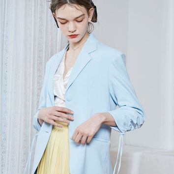 [BPB] Skyblue Shirring Jacket
