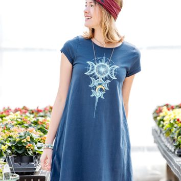 NEW! Moon Goddess Blue T-Shirt Dress