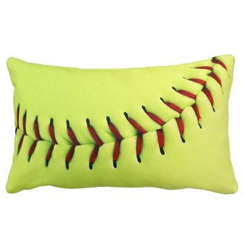 Yellow softball ball