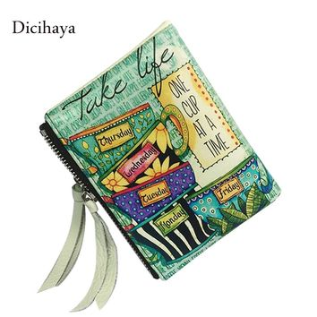 DICIHAYA New Arrive Women Wallets and Purses Double Zipper Wallet Women's Leather Wallet Female Coin Purse Card ID Holder