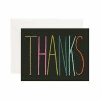 Thanks Crayon Greeting Card by RIFLE PAPER Co. | Made in USA