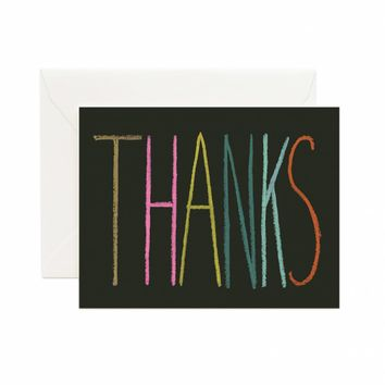 Thanks Crayon Greeting Card by RIFLE PAPER Co.   Made in USA