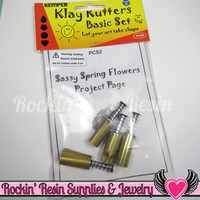 Kemper Klay Kutters 7/16 inch Cutter Set (heart, teardrop, flower & circle) PCS2