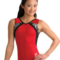 Red Zebra Gymnastics Leotard from GK Elite