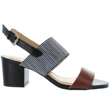 Chelsea Crew Elle   Tan/black Leather Sling Back Sandal