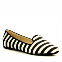 Black and White Stripe Loafer