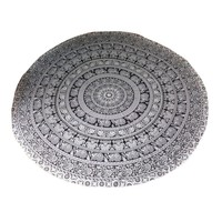 Round Beach Pool Home Shower Towel Blanket Elephant Table Cloth Yoga Mat Round Beach Pool Home !