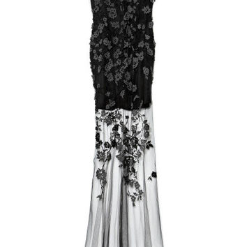 Shadow Embroidered Tulle Embroidered Gown by Wes Gordon for Preorder on Moda Operandi
