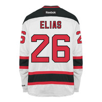 Patrick Elias New Jersey Devils Reebok Premier Replica Road NHL Hockey Jersey