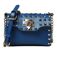 Punk Rivet Cross Body Bag from Hallomall