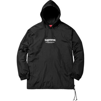 Supreme: Nylon Packable Poncho - Black