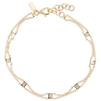 EF COLLECTION Lucky 7 Baguette Chain Diamond Bracelet | Nordstrom