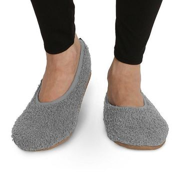 Pembrook Super Soft Slippers ¡§c Ballet Style And Non Skid Sole   Faux Sherpa Shearling Lining   Memory Foam Women Girls