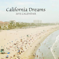 "2015 Calendar, Desk Calendar, California, Beach Prints, San Francisco, Los Angeles, Organize, Plan, Back To School ""California Dreams"""