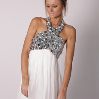 Esther Boutique - embellished halter cocktail