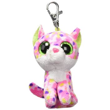 """Ty Beanie Boos Sophie the Cat Clip 3"""" Keychain Plush Stuffed Animal Collectible Doll Toy"""