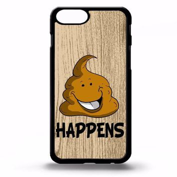 ESBONIA Poo emoji poop happens life quote phrase funny gift cartoon art phone case cover