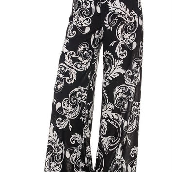 High Waisted Plus Palazzo Pants