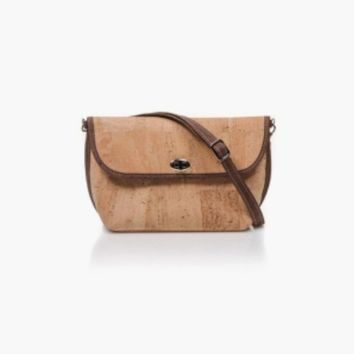 Small Cork Crossbody in Natural Cork