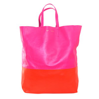 Celine Fluo Pink and Orange Bi Cabas Tote