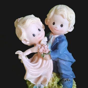 "Precious Moments ""Dancing Boy and Girl Couple"" Figurine"