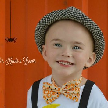 Pumpkin Bow Tie, Halloween Bow Ties, Fall Bowties, Boys Bow Ties