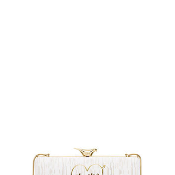 Kate Spade Wedding Belles Mr And Mrs Clutch Bridal Cream ONE