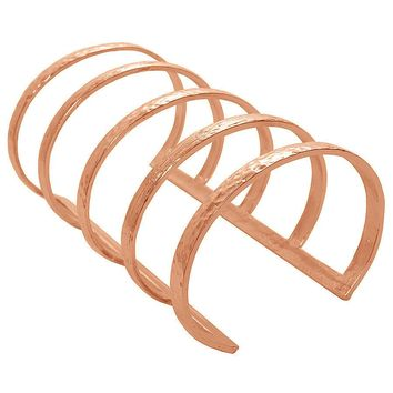 DEBORAH CAGED ARM CUFF IN ROSE GOLD