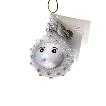 Golden Bell Collection BABY HEDGEHOG Glass Spiny Mammal Ornament An747 Blue