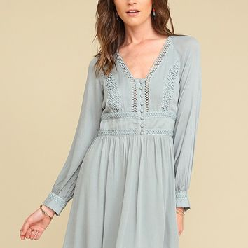 Tell Me More Detailed Dress | Threadsence