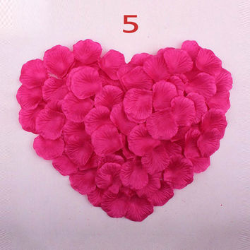 new arrival rose petals 2000pcs Per Lot  Artificial Wedding Party Bridal Shower Favor Centerpieces Confetti Vestido De Noiva
