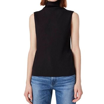 3 x 1 Black Turtleneck Tank