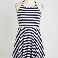 Nautical Mid-length Sleeveless A-line St. Lucia Stunner Dress