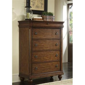 Liberty Furniture Rustic Traditions 5 Drawer Chest in Rustic Cherry Finish