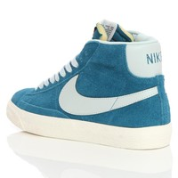 Nike Blazer Mid Prm Vntg Suede Green Abyss/Brlybl 538282-306 | Free UK Shipping and Returns