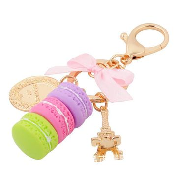 Lovely Food Cake Key Chain Holder