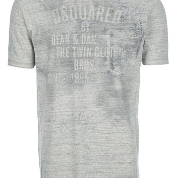 DSQUARED2 heathered print t-shirt
