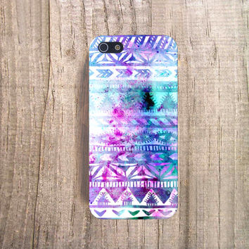 iPhone Watch the Stars, iPhone Paint Case, iPhone 5 Case, iPhone 4 Case, Aztec iPhone Case, Unique iPhone Case, Pastel iPhone 5s Case