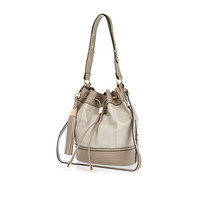 River Island Womens Grey tassel trim duffle bag