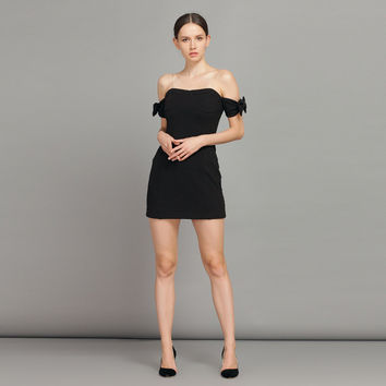 6aadc8a78978 Black Casual Off Shoulder Mini Dress With from Yellow Bird