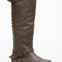 Bamboo Knee High Rider Taupe Boots