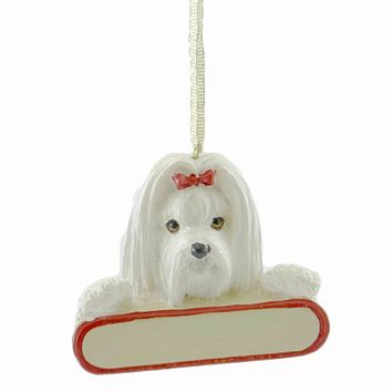 Personalized Ornaments MALTESE Resin Christmas Puppy Dog 21824