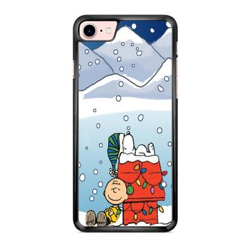 Charlie And Snoopy Brown Christmas iPhone 7 Case