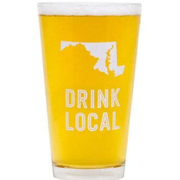 Maryland Beer Pint Glass
