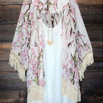 DCCKHQ6 Sexy Women Vintage Boho Kaftan Cardigan Cover Up Dress Lace Kimono Beach Swimwear