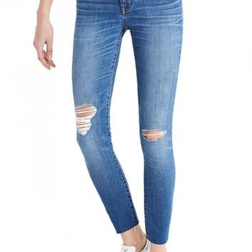 Madewell Crop Jeans (Bruce Wash) | Nordstrom