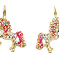 Betsey Johnson '60s Mod Unicorn Drop Earrings