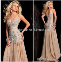 Vestidos de Fiesta Charming Elegant 2016 New Design Free Shipping Chiffon Beading Evening Dress New Arrival Stock Sale-in Evening Dresses from Weddings & Events on Aliexpress.com | Alibaba Group