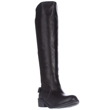 SC35 Jayden Stretch Calf Riding Boots, Chocolate, 8.5 US